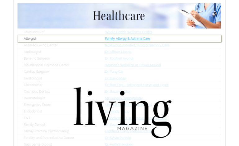 We are honored to be named among The 2017 Best Of Flower Mound Readers' Choice Winners for Living Magazine! Thanks for choosing Family Allergy & Asthma Care. It is our mission to enhance the health and well being of our patients and their families.