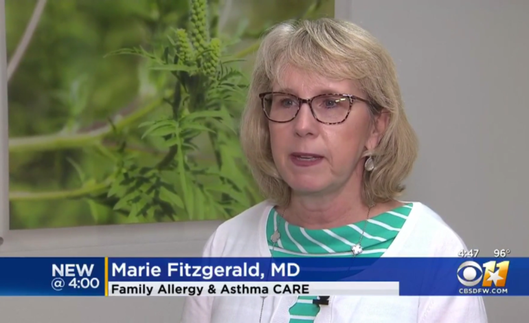 Dr. Marie Fitzgerald CBS 11 Allergies Heat Fall