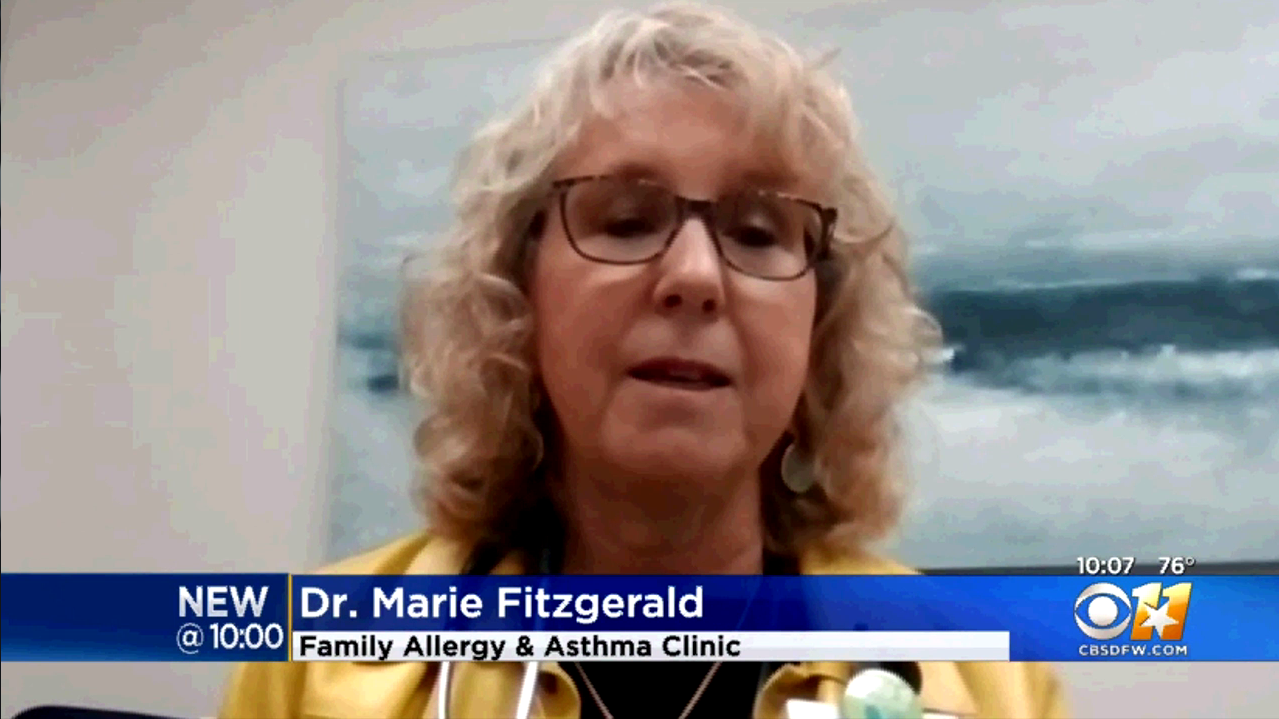 Dr Marie Fitzgerald Spring Allergies More Severe North Texas April 2021